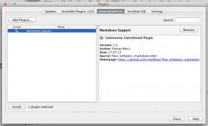 Über den Plugin-Manager kann das heruntergeladene Modul installiert werden